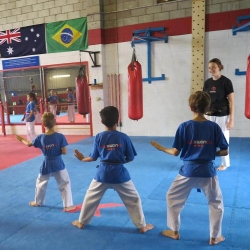 Learning Double Knife Hand Body Block