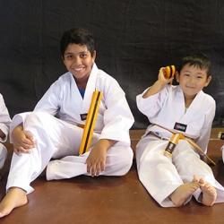 Kids yellow belt grading