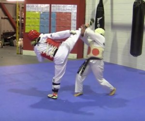 Women Taekwondo Sparring