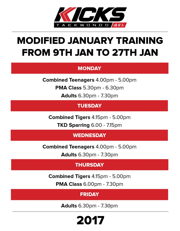 January Training