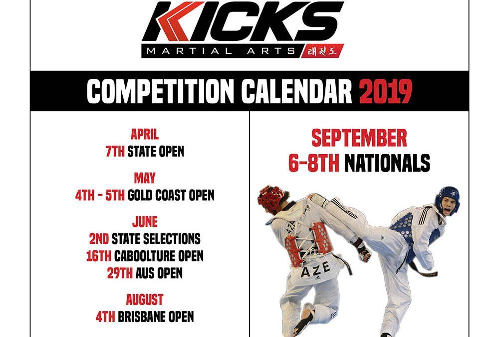 Taekwondo tournaments for 2019
