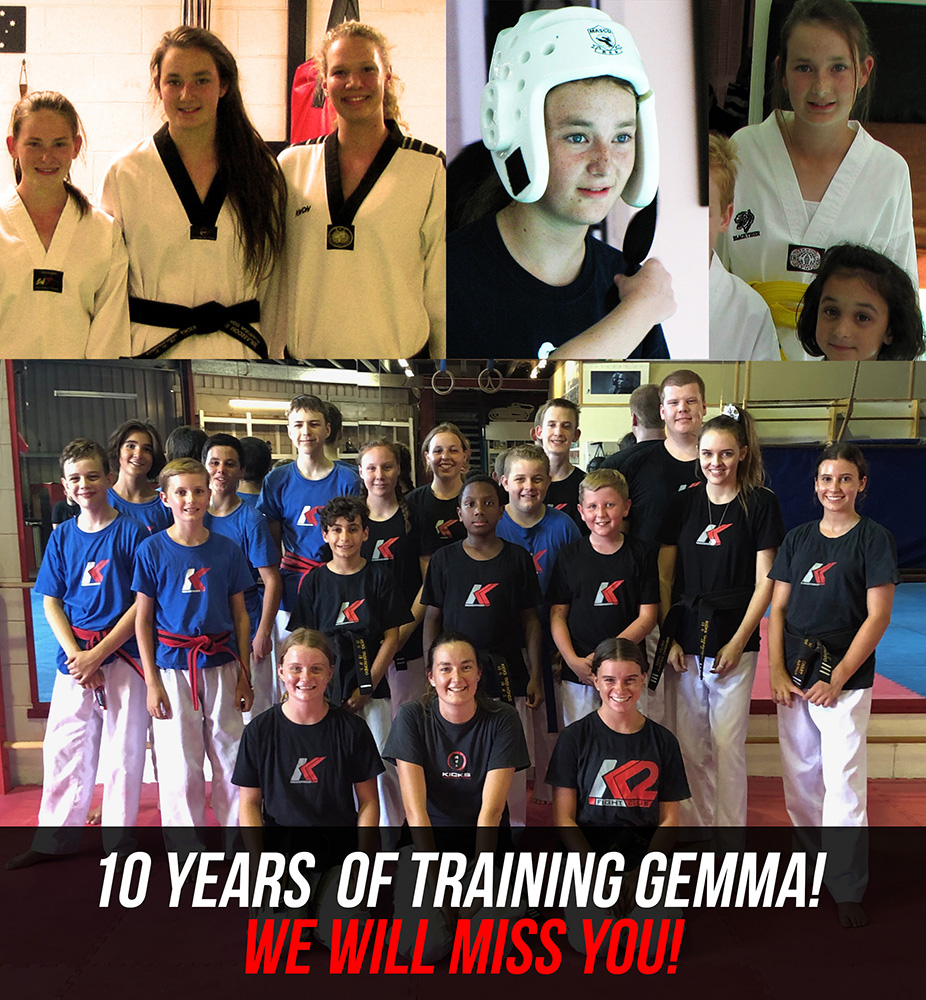 Gemma 10 years of training!