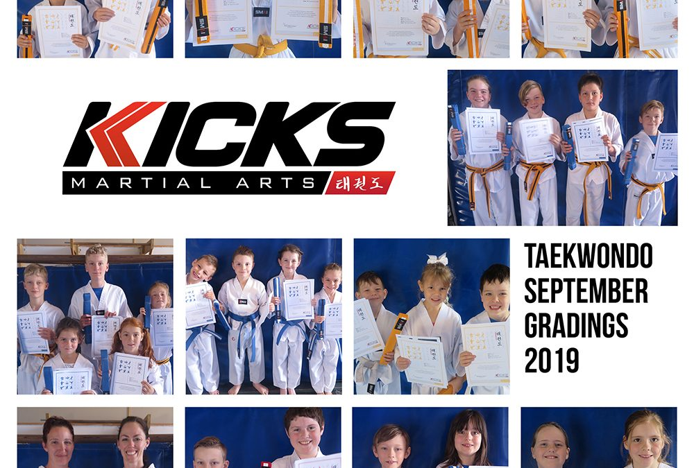 September Taekwondo Gradings