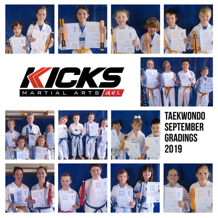 September Taekwondo Gradings