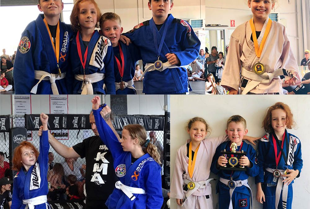Kids enter there first bjj competition!