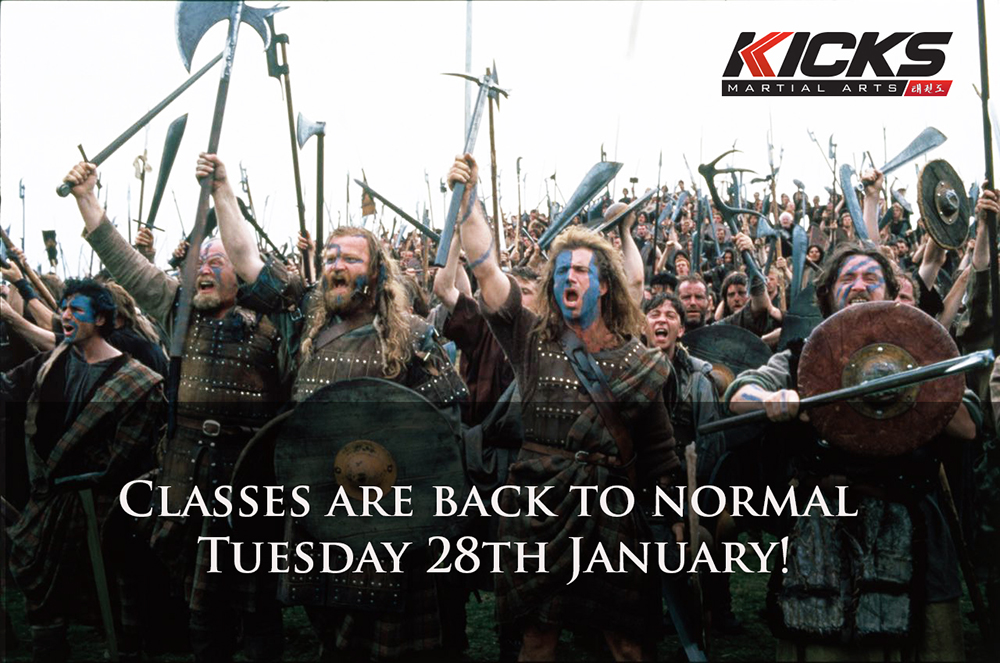 Classes are back to normal!