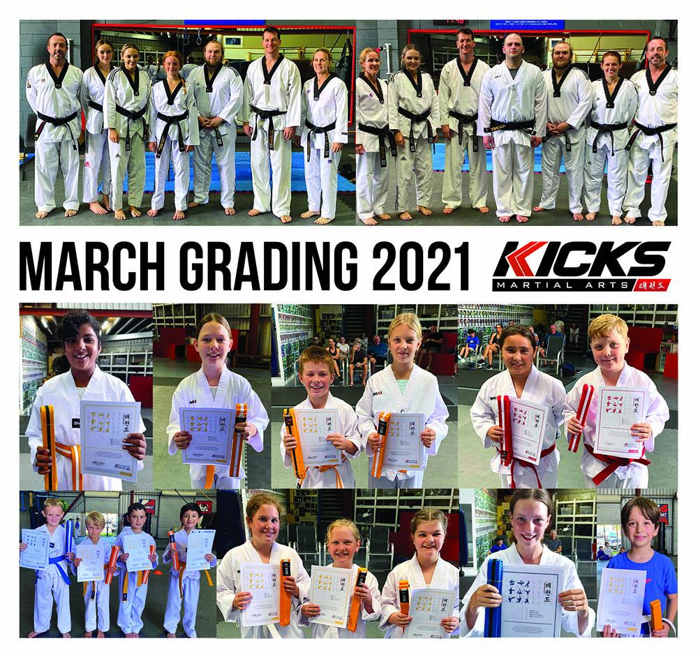 March Gradings 2021